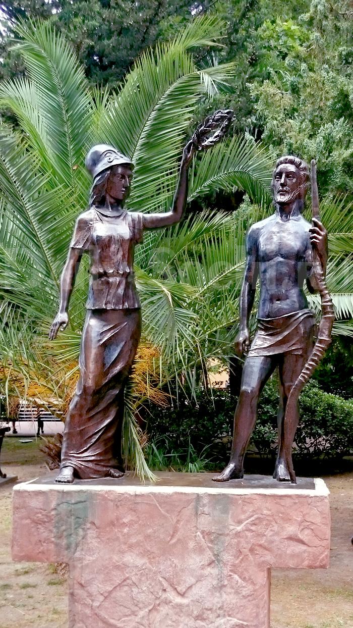 Памятник афинским атлетам