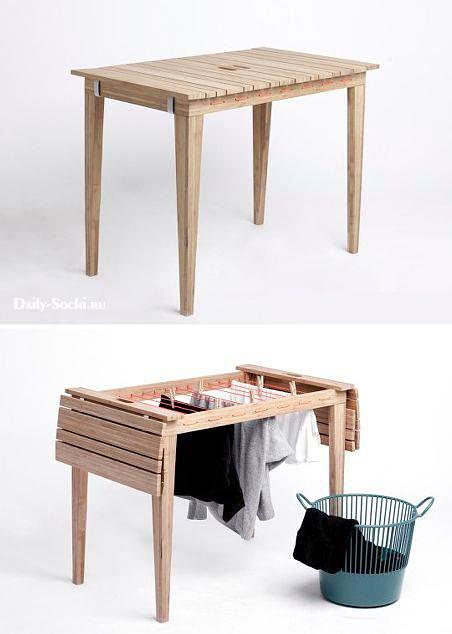 Стол-сушилка для маленького балкона