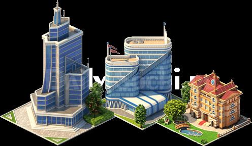 Возможности расширения карты и улучшения построенных зданий
