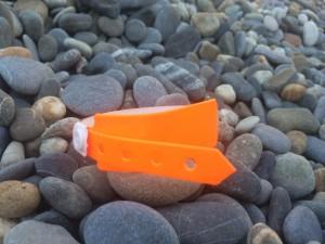 Такой браслет надевают каждому вошедшему на пляж, при выходе его срезают.