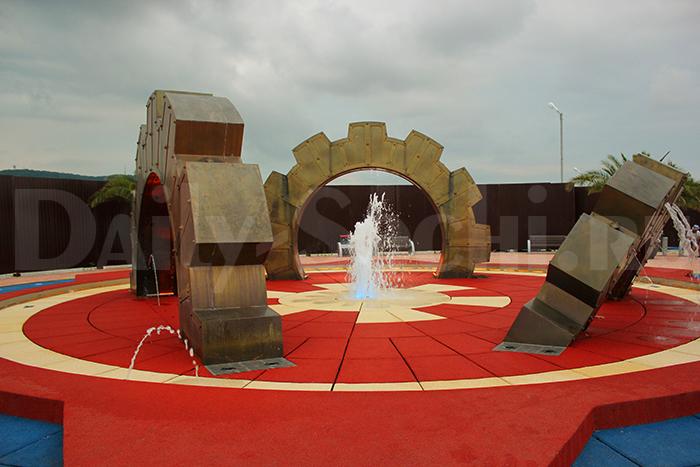 Сухой фонтан в Сочи парке