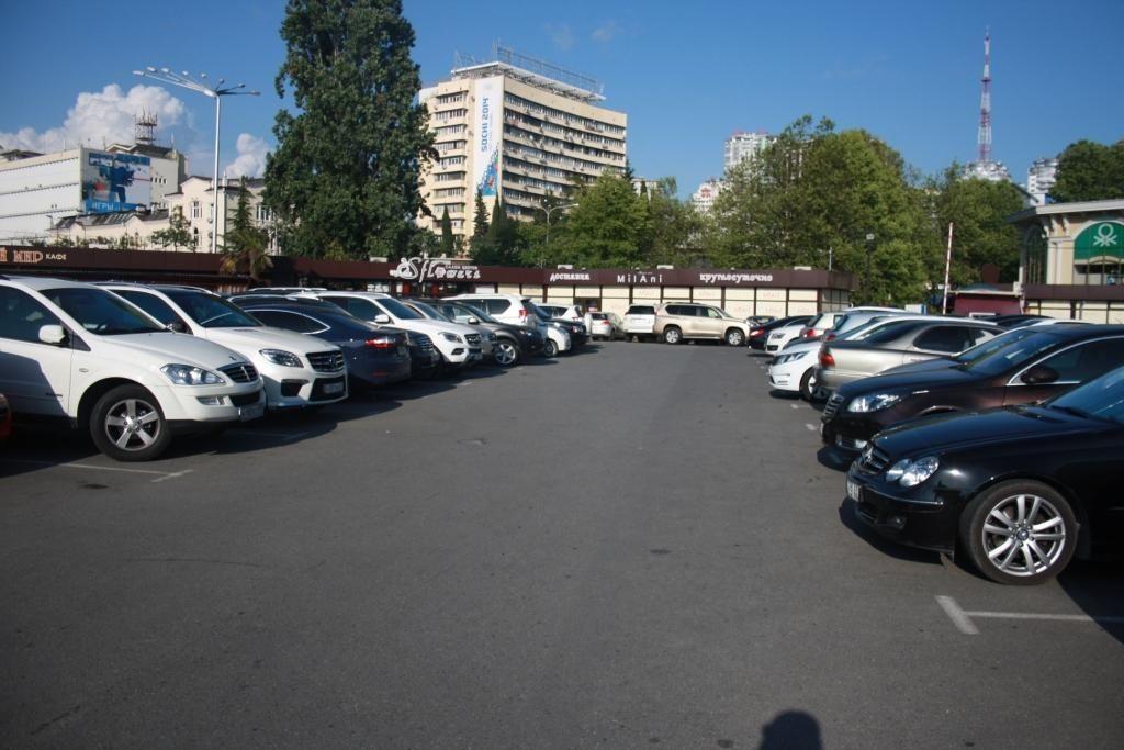 Платная парковка на «Спутнике» Сочи