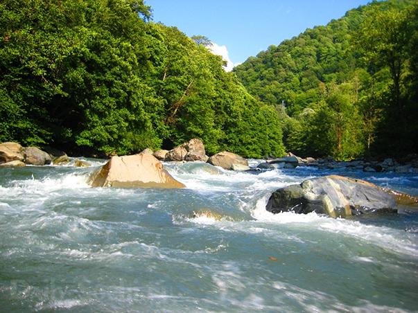 Фотография реки Мзымты
