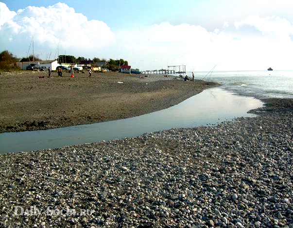 Река Херота впадает в Чёрное море