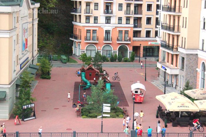 Детская игровая площадка на курорте Роза Хутор