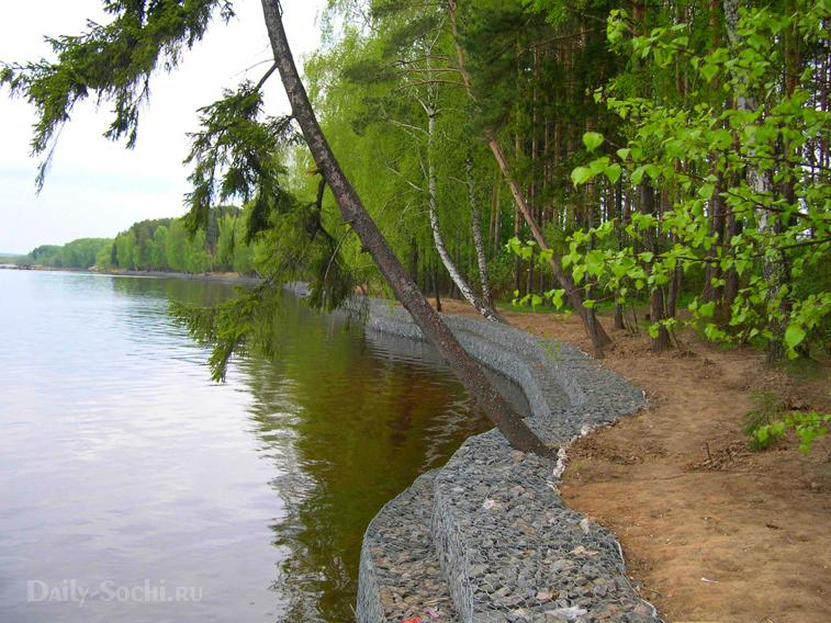 Габион в Сочи - укрепляющая конструкция для берегов рек