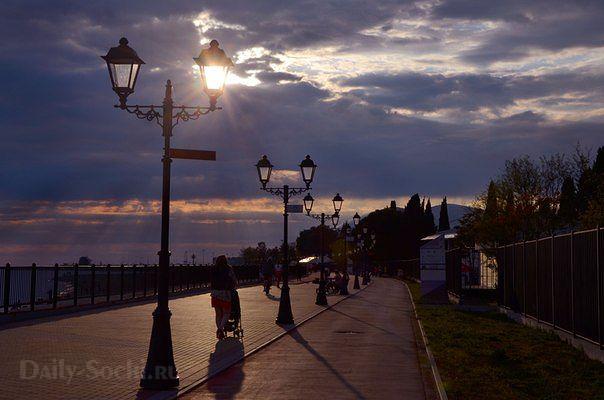 Вечерний Сочи фото набережной