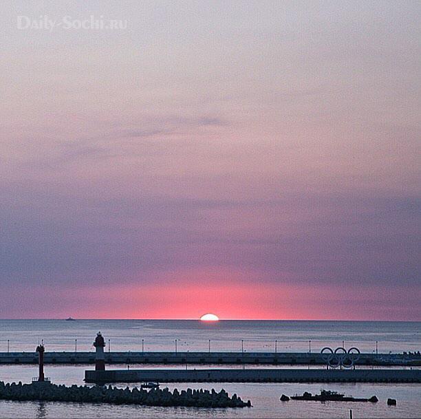 Закат в Сочи