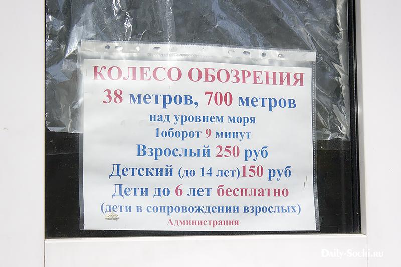 Объявление в окошке кассы вкратце описывает технические параметры
