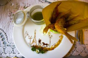 Жаренная барабуля в ресторане Оливье