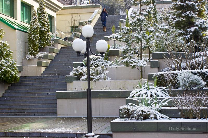 Лестница возле Сбербанка