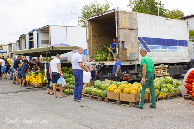 продуктовый рынок Сочи на улице Фабрициуса, 58
