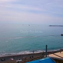 """Вид на Чёрное море из ресторана """"Восточный квартал"""""""